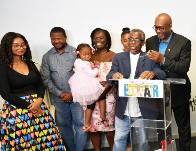 """Writer and House of Nehesi Publishers' Lasana M. Sekou (2nd R) calls for """"Caribbean Literature Day"""