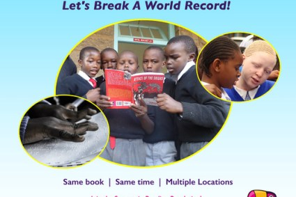 Storymoja National Read Aloud Campaign attempts world record.