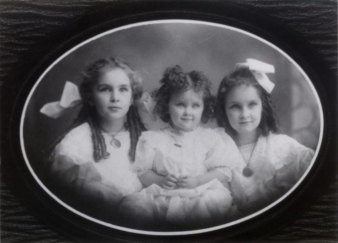 The Ensley Girls 1908 - Isabel, Elizabeth, and Gladys
