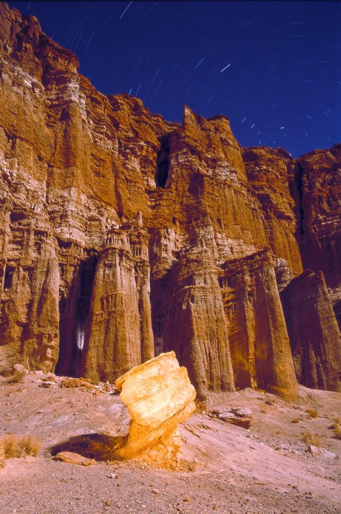 Polaris Red Rock, taken with a Canon EOS Elan 7 with Fuji Velvia, 50 ISO film