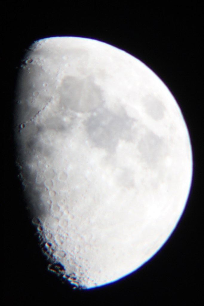 First Moon image take with my lunar photograph setup.