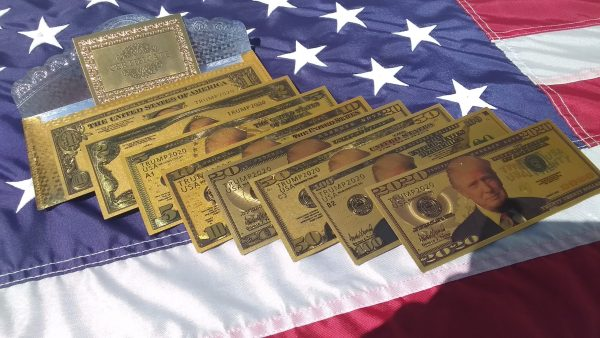 24K GOLD TRUMP FEDERAL RESERVE BANKNOTE COLLECTOR'S SERIES SET #5