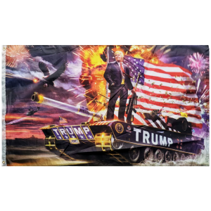 TRUMP TANK COMMANDER FLAG