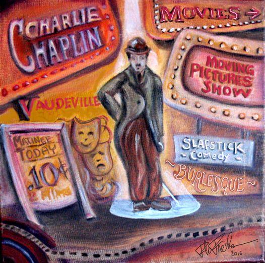 Charlie Chaplin Slapstick Comedy by Florie Freshman