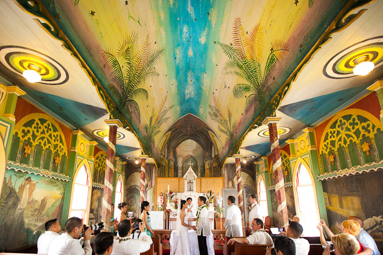 Marisel  Paul  St Benedicts Painted Church Wedding  Hawaii Wedding Photographer  James