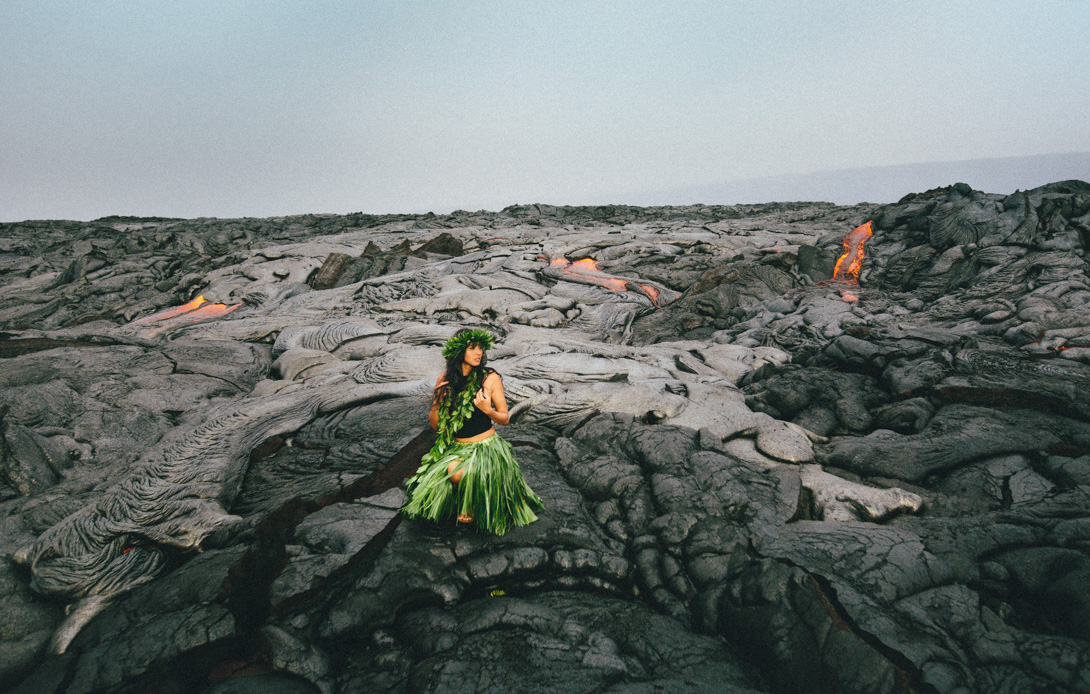 Kalapana Lava Ocean Entry with Issha  Hawaii Wedding Photographer  James Rubio  Big Island