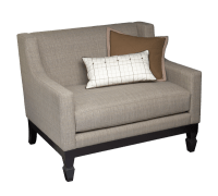 Oscar one and a half Upholstered Arm Chair with Black Legs ...