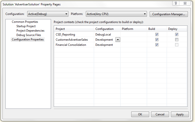 Preventing projects from deploying when debugging a SSIS package