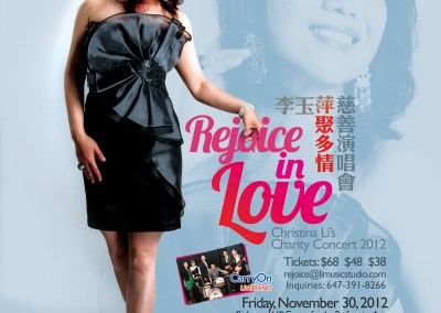 Rejoice in Love Charity Concert Poster