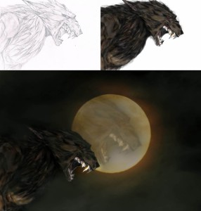Drawn to Life Werewolf Process