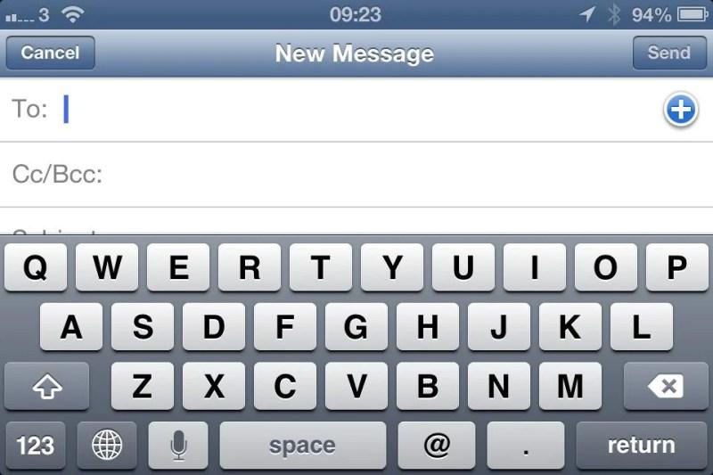 Virtual QWERTY keyboard