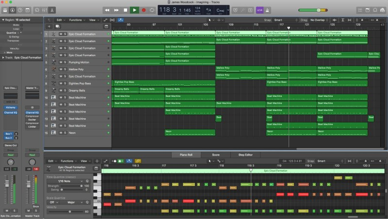 Logic Pro X original track Imagination by James Woodcock