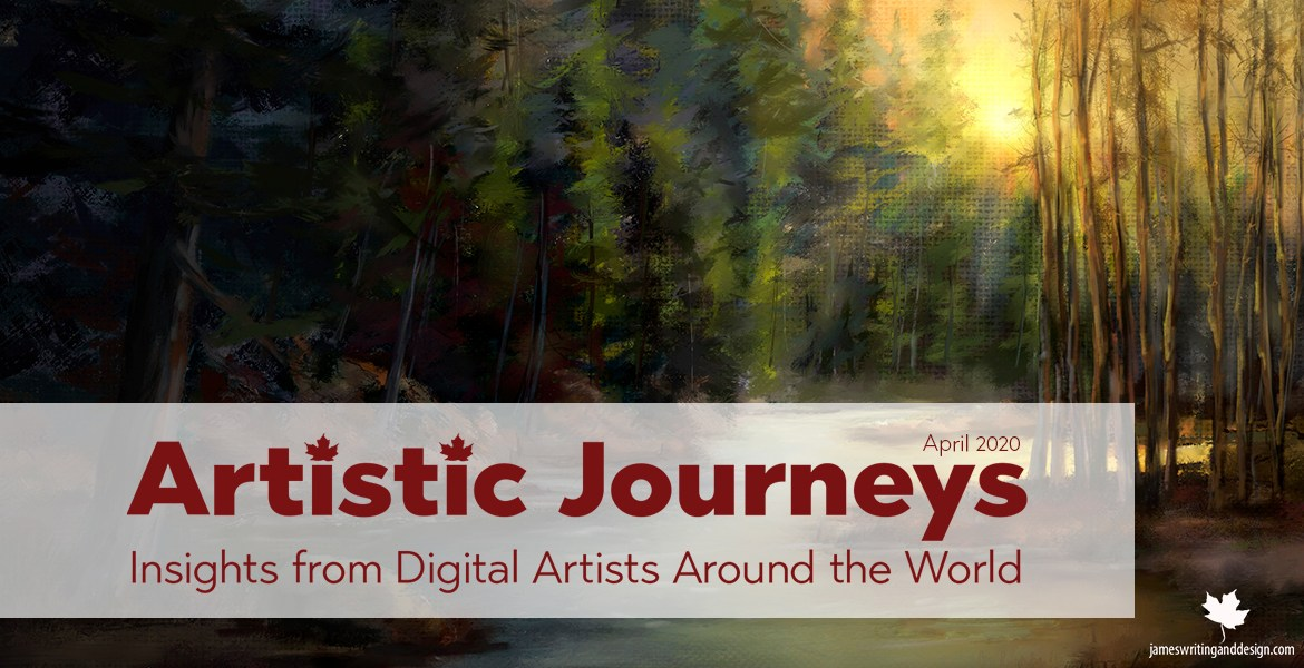 Artistic Journeys is an online publication that explores the lives of creative individuals as they share their experiences. April 2020 features Raquel Bigby.