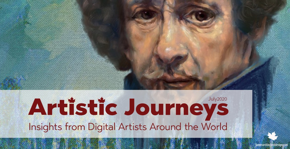 Artistic Journeys is an online publication that explores the lives of creative individuals as they share their experiences. July features Ray Martin