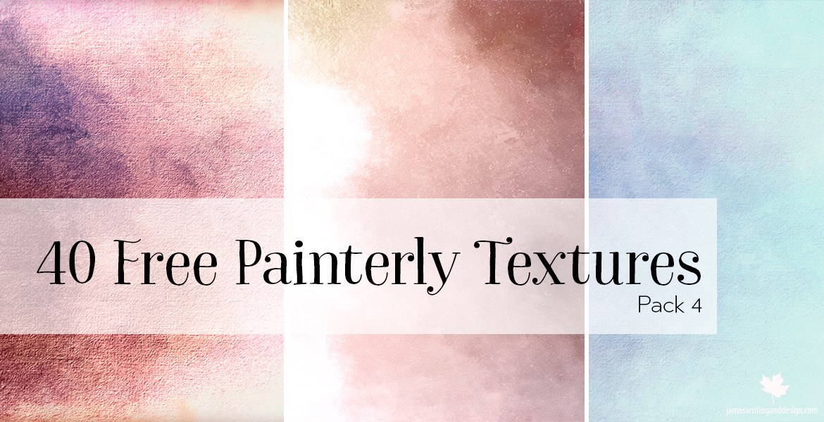 40 Free Painterly Textures by L.A. James