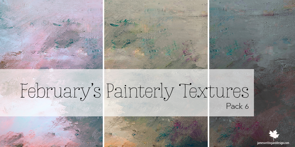 February Free Painterly Textures Pack 6