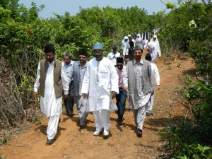 Going for Hostel Jamia Ahmadiyya Foundation Laying Ceremony