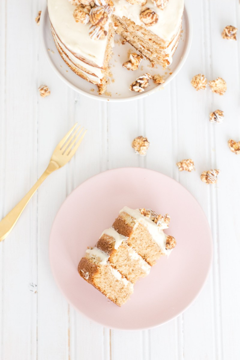 Cinnamon Bun Popcorn Cake with Popularity Las Vegas