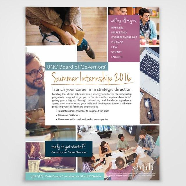 Summer Internship Flyer Jamie L Forbes