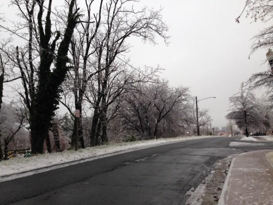 Monday Snow and Ice
