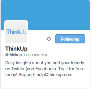 ThinkUp on Twitter
