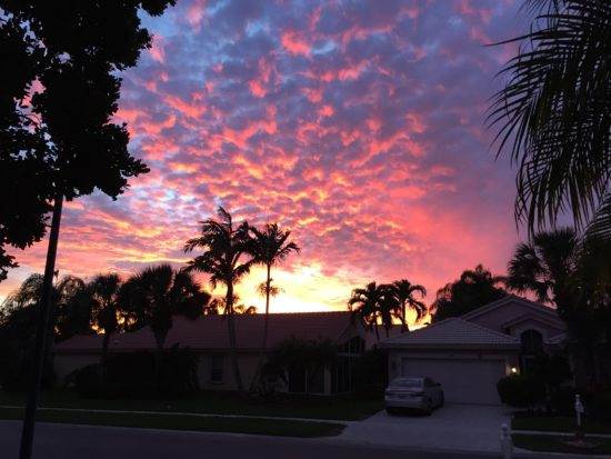Sunset, 12/30/16