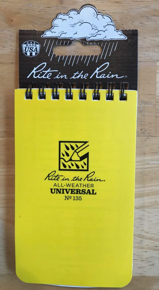 My Rite in the Rain notebook