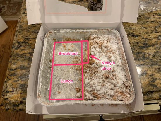 This morning's coffee cake, annotated