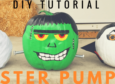 DIY Painted Monster Pumpkins