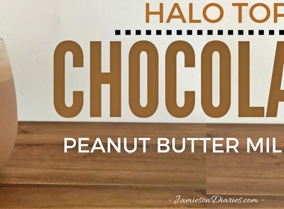 Halo Top Chocolate Peanut Butter Milkshake