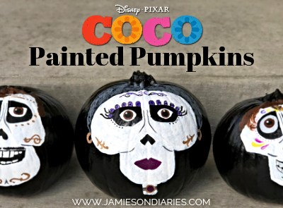 """Coco"" Painted Pumpkins"