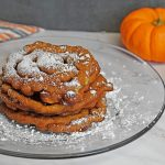 pumpkin spice funnel cake