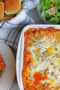 5 cheese & meat lasagna