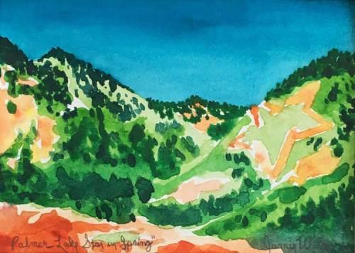 """Palmer Lake Star in Spring"" - Watercolor by Colorado Artist Jamie Wilke - Sundance Mountain"