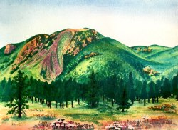 Mount Herman Watercolor Painting by Colorado Artist Jamie Wilke