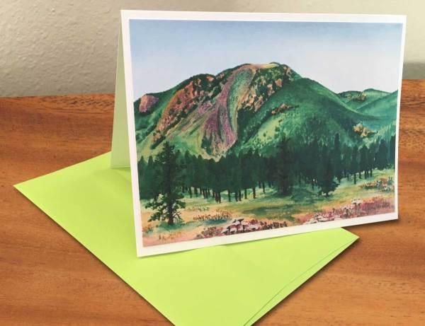 Mount Herman, CO - Watercolor by Jamie Wilke. Fine Art Notecard for Sale.