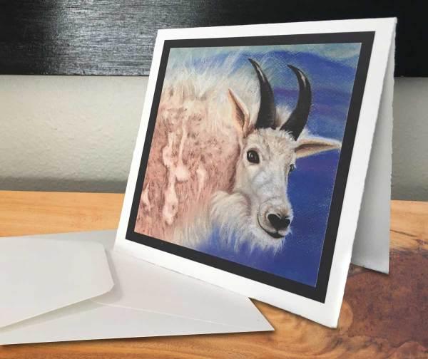 Fine Art Notecard: Colorado Mountain Goat - by Palmer Lake Artist Jamie Wilke