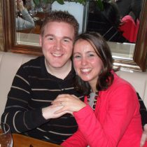 Evening of our engagement at a meal with our parents