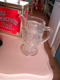 Cut glass milk jug
