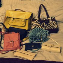JamJarGill: KonMari: Bags: bags I decided to keep