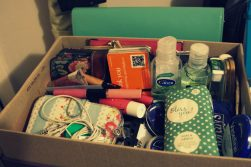 JamJarGill: KonMari: Bags: Shoebox of handbag contents (umbrellas removed)