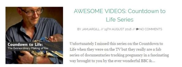 AWESOME VIDEOS: Countdown to Life Series
