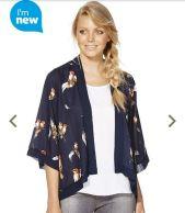 4th Outfit: Feather Print Kimono Top (Tesco)
