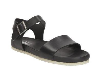 2nd Outfit: CLARKS ORIGINALS Dusty Soul - Black Leather Sandals (Bells Shoes)
