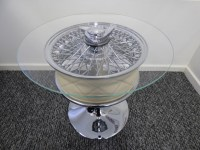 Aston Martin DB5 Chrome Wheel Coffee Table | Jam Jar Junkies