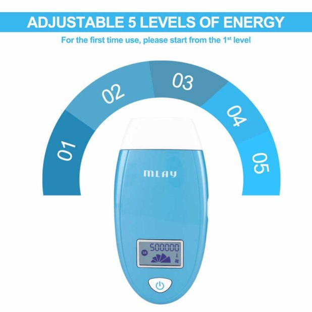 درجات قوة الومضة لجهاز الليزر من 1-5