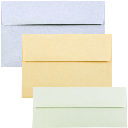 recycled parchment envelopes and