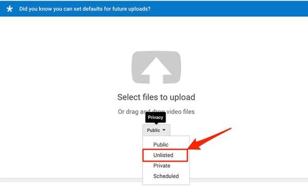 Uploading YouTube Video