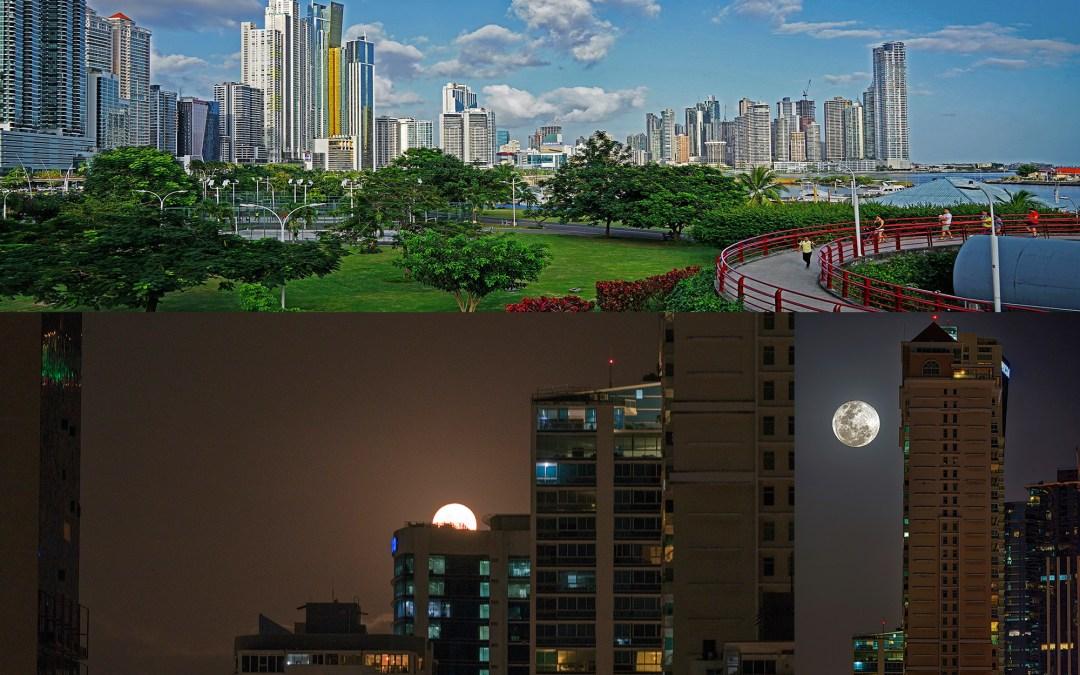 Buscando la Luna me encontré con mi ciudad, Panama.