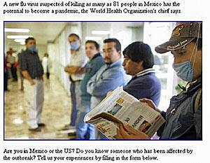 Schweinegrippe in Mexiko E-Mail Spam